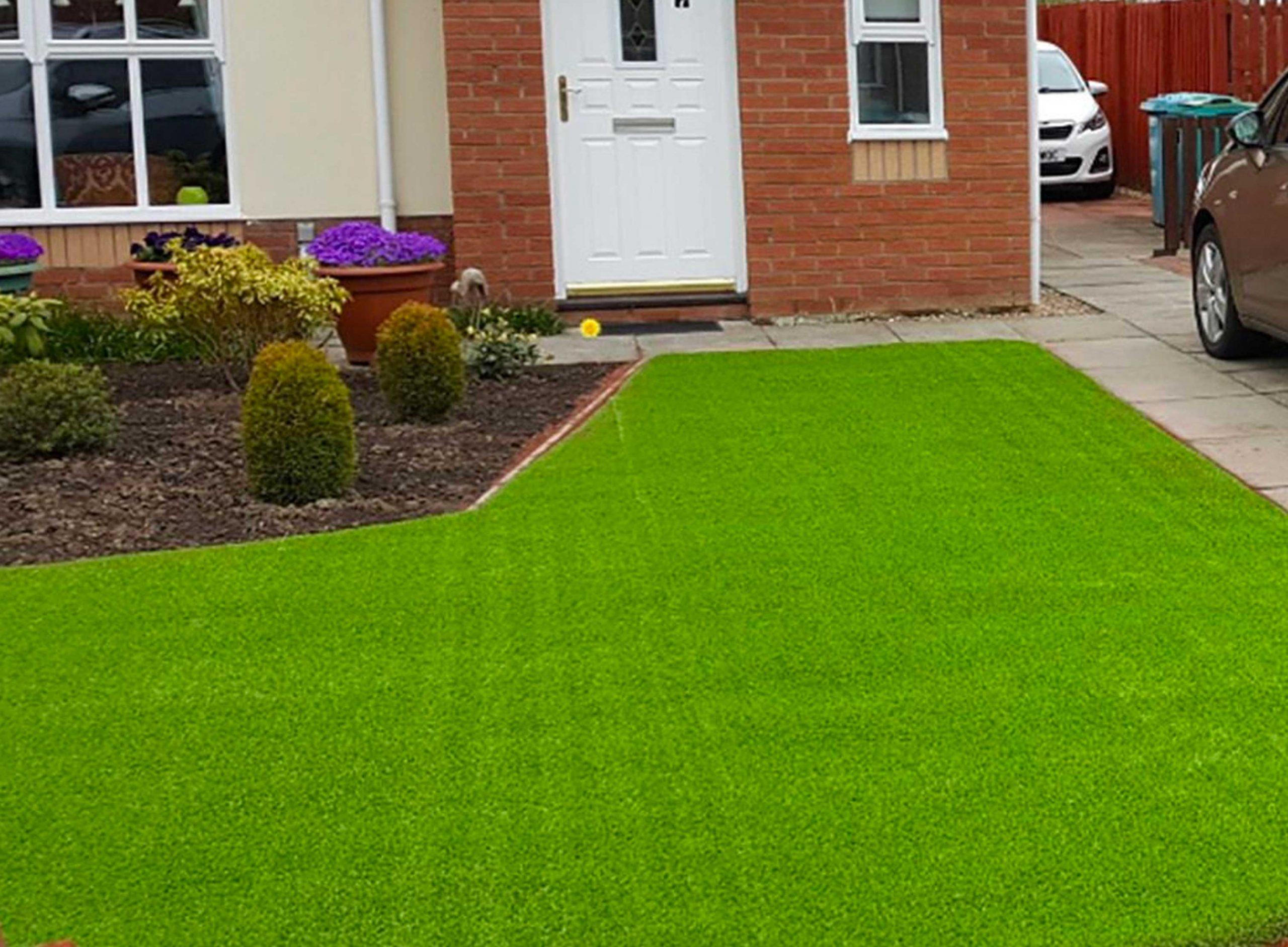 Fake grass front garden Manchester