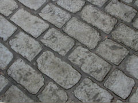 'London Cobbles' — replicating coursed settwork, cobbles and fan effects