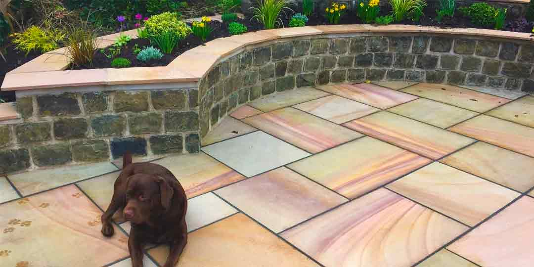 Gold Leaf Indian Stone Patio